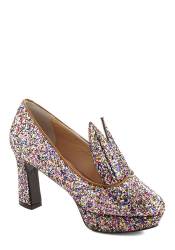 Cottontail Twinkle Heel by Minna Parikka - Multi, Glitter, Holiday Party, Luxe, Statement, International Designer, Mid, Leather, Best, Party, Platform
