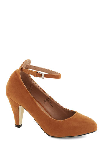 Anywhere You Jaunt Heel in Camel - Tan, Solid, Work, Daytime Party, Mid, Good, Variation, Basic