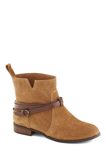 Dried Flowers Shop Boot by BC Footwear - Low, Leather, Suede, Tan, Solid, Casual, Better