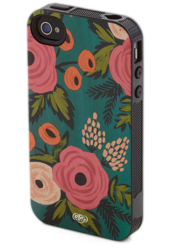 Arrange a Meeting iPhone 4/4S Case by Rifle Paper Co - Green, Multi, Floral, Travel