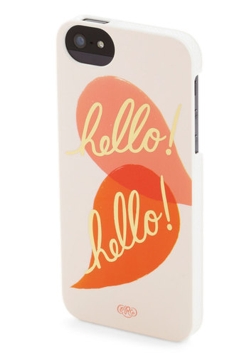 Nice to Greet You iPhone 5/5S Case by Rifle Paper Co - Travel, Yellow, Black, Print with Animals