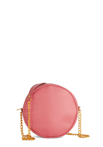 Strawberry Droplet Bag - Pink, Gold, Solid, International Designer, Faux Leather, Chain, Girls Night Out