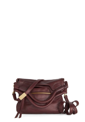 Fig Day Ahead Bag by Foley+Corinna - Leather, Purple, Gold, Solid, Best