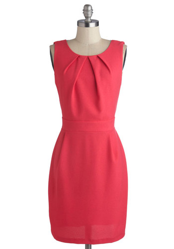 A Dramatic Dip Dress - Mid-length, Pink, Black, Solid, Backless, Lace, Party, Sheath / Shift, Sleeveless, Good, Scoop, Cocktail, Woven