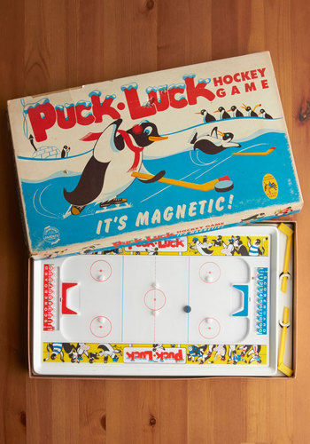 Vintage Puck Luck Hockey Game