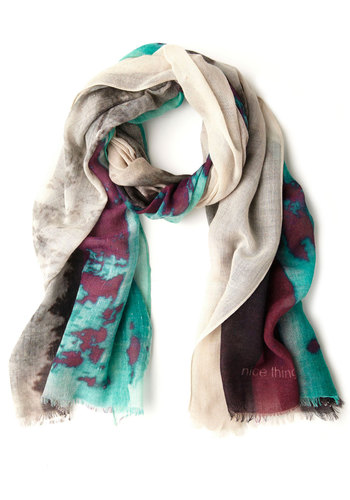 Interstate of Mind Scarf by Nice Things - Multi, Novelty Print, International Designer, Woven