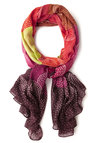 Concert Lights Scarf in Sunset - Multi, Better, Woven, Pink, Polka Dots