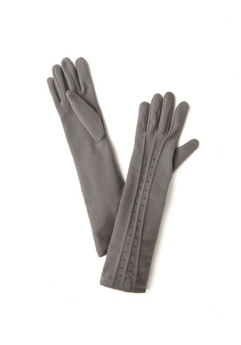 Luxury You've Longed For Gloves - Grey, Solid, Beads, Fall, Winter, Better, Knit