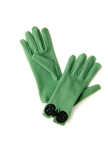 Glove Story in Green - Green, Black, Solid, Winter, Good, Variation, Holiday