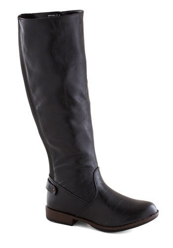 Solid Start Boot - Black, Solid, Low, Faux Leather, Good, Casual, Fall