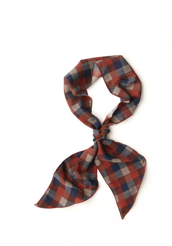 Wrap Session Scarf in Red Picnic - Red, Blue, Grey, Plaid, Good, Woven, Variation