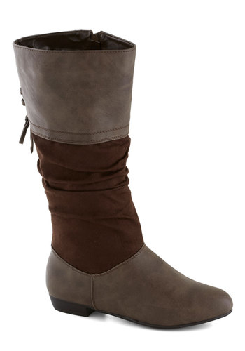 Got This on Loxley Boot - Brown, Flat, Good, Faux Leather, Solid, Ruching