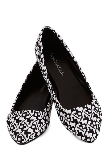 Gusto Galore Flat - Flat, Black, Print, Work, Good, White