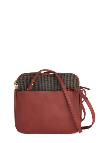 Paprika Eureka Bag by Nice Things - Red, International Designer, Brown, Solid, Work, Faux Leather