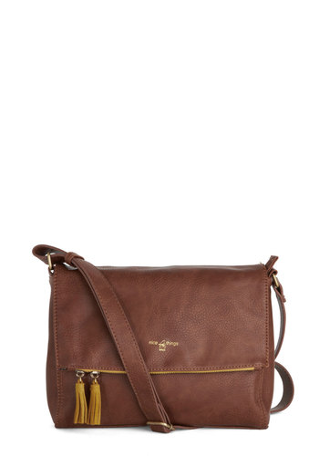 Every Daybreak Bag by Nice Things - Tassles, International Designer, Faux Leather, Brown, Solid, Work