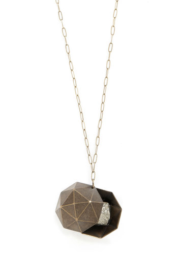 Geodesic Genius Necklace - Solid, Better, Gold, Bronze, 90s