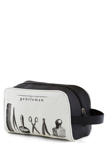 Groom Service Travel Bag - Cotton, White, Black, French / Victorian, Steampunk, Good