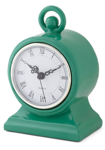 Haute with the Old Clock - Green, Green, Good, Vintage Inspired, French / Victorian, Solid, Folk Art, Holiday