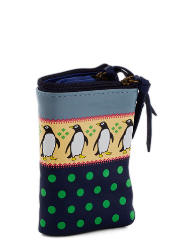 Waddle of Cash Wallet by Nice Things - Polka Dots, Print with Animals, International Designer, Faux Leather, Multi, Yellow, Green, Blue, Quirky