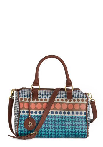 Be the Stylist Bag by Nice Things - Multi, Polka Dots, Houndstooth, International Designer, Faux Leather, Better, Folk Art