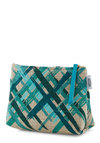 Brilliant Brushstrokes Makeup Bag - Woven, Good, Blue, Tan / Cream, Print, Travel