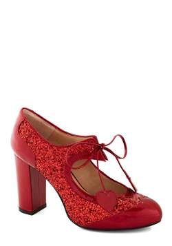 Heart Work and Dedication Heel in Ruby
