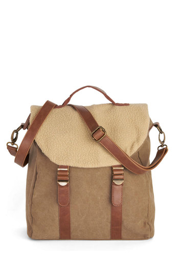 Monte Brè Bag - Tan, Brown, Solid, Buckles, Rustic, Good, Fall, Winter, Work
