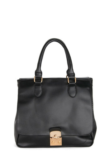 Smart Maneuver Bag by Kling - Black, Gold, Solid, Work, International Designer, Faux Leather, Minimal