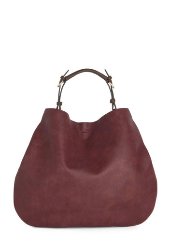 Beaujolais Date Bag - Red, Solid, Minimal, Better, Faux Leather, Work, Travel