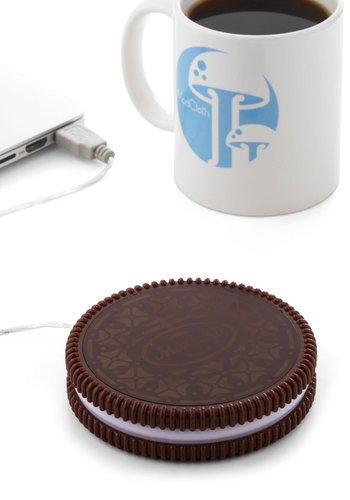 One Hot Cookie Mug Warmer - Brown, White, Work, Dorm Decor, Guys, Under $20