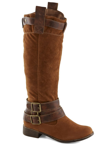 Homesteading Honcho Boot - Brown, Buckles, Low, Good, Faux Leather, Solid, Fall