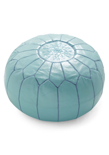 Get it Bright Pouf in Blue by Karma Living - Blue, Boho, Dorm Decor, Vintage Inspired, Daytime Party, Mid-Century, Best