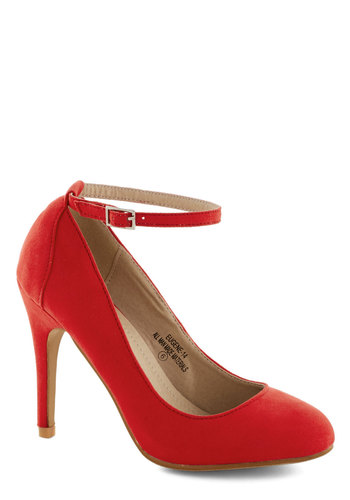 Ballroom Glancing Heel in Ruby - Red, Solid, Wedding, Work, Daytime Party, Graduation, High, Good, Party, Cocktail, Faux Leather, Variation, Statement