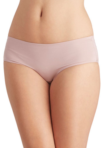 Wear Me Anywhere Undies in Mauve - Tan, Solid, Seamless, Knit, Basic