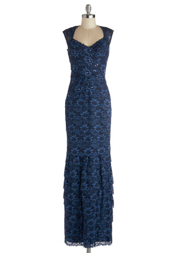 Talk of the Gown Dress - Blue, Solid, Beads, Cutout, Lace, Formal, Maxi, Sleeveless, Prom, Holiday Party, Best, Wedding, Bridesmaid, Long, Sheer, Knit, Floral, Sequins, Luxe, Sweetheart