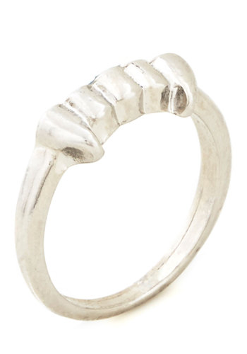 All I Do Is Grin Ring - Solid, Quirky, Good, Silver, Silver, Halloween, Silver
