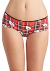 Hello Studies Undies - Cotton, Red, Multi, Plaid, Print with Animals, Novelty Print, Scholastic/Collegiate, Knit, Cats