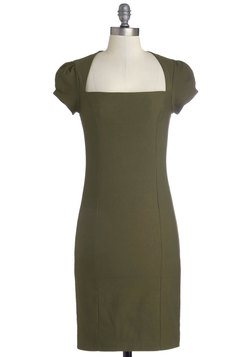 Sleek It Out Dress in Olive