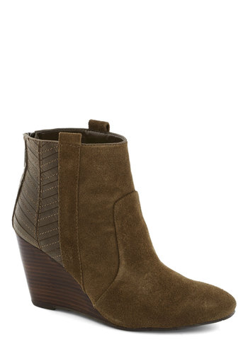 I'm Down with That Bootie by Dolce Vita - Brown, Better, Wedge, Mid, Leather, Solid, Suede