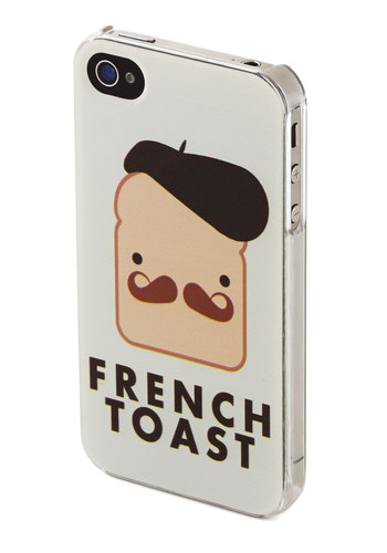 Phone Appetit iPhone 4/4S Case by Kling - White, Brown, Tan / Cream, Black, Quirky, International Designer, Novelty Print, Travel, French / Victorian