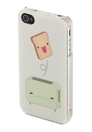 Toaster of the Town iPhone 4/4S Case by Kling - White, Multi, Mint, Quirky, International Designer, Novelty Print, Kawaii, Travel