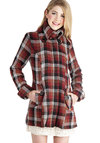 Missing Crayons Coat in Amber - Mid-length, 3, Red, Plaid, Buttons, Pockets, Long Sleeve, Fall, Winter, Variation, Multi, Gifts Sale