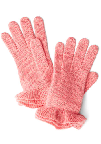 Glove on Top in Pink - Pink, Solid, Ruffles, Fall, Winter, Variation, Knit