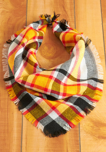 Vintage Seasonal Scavenger Hunt Scarf