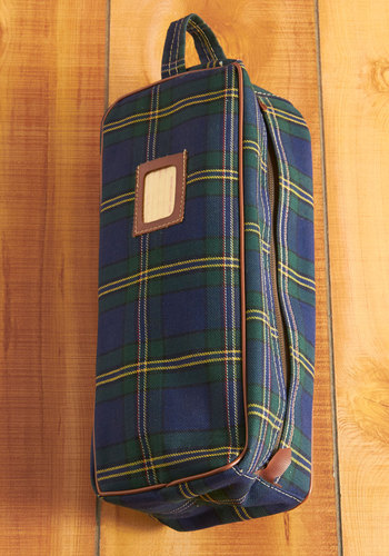 Vintage Plaid to Be Traveling Toiletry Bag