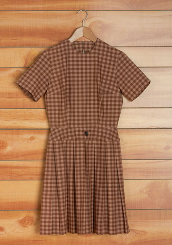 Vintage Cocoa on the Quad Dress