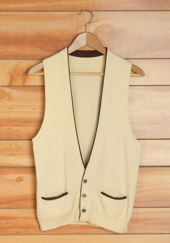 Vintage Front Porch Decorating Men's Vest