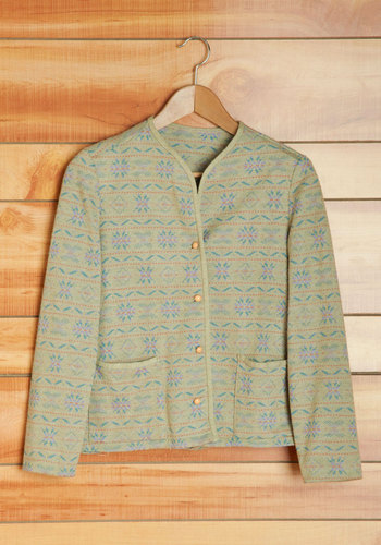 Vintage Memories by the Fireside Cardigan