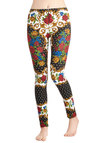 Rococo of Love Leggings by Mink Pink - Multi, Red, Yellow, Green, Black, White, Polka Dots, Floral, Skinny, Cotton, Knit, 90s
