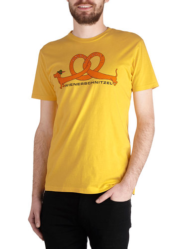 Fest Friends Forever Men's Top - Mid-length, Yellow, Red, Orange, Green, Black, Animal Print, Quirky, Short Sleeves, Good, Crew, Novelty Print, Guys
